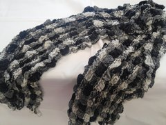 Black and White Scarf 5838