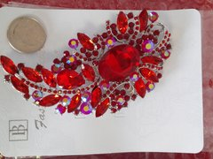 Red Brooch Pin #2906