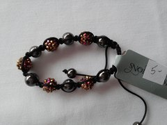Pink and Gold Hematite Bracelet