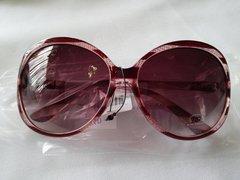 Burgundy Stripe Sunglasses