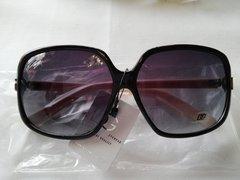 Black with Beige Handles Sunglasses