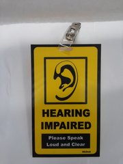 Hearing Impaired Badge #1942