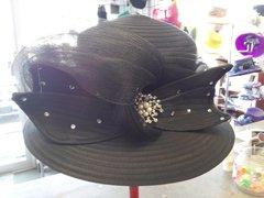 Lg Black Dress Hat #2832