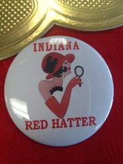 Indiana Red Hat Button #2803