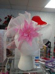 Pink Fascinator #3703