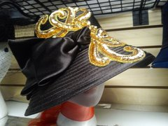 Brown with Gold Dress Hat 5875