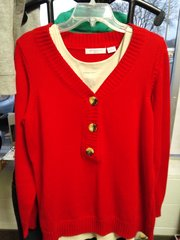 Red Liz Claiborne Sweater