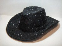 Black Sparkle Cowboy Hat
