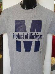 Gray Product of Michigan Shirt #4007