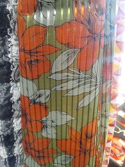 Green and Orange Scarf 5839