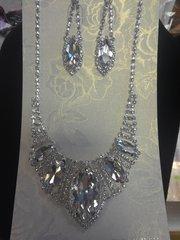 2 PC Rhinestone Necklace Set #2781