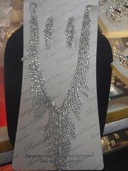 Rhinestone Necklace Set #2785