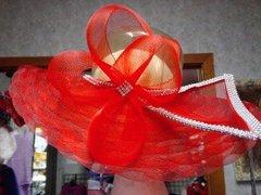 Fancy Red Open-Top Hat
