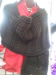 Black Knitted Shawl 5869