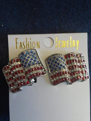 Flag Clip-On Earrings #3130