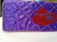 Purple Purse with Red Hat #1253