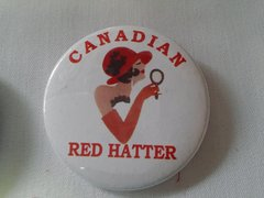Canadian Red Hatter Button