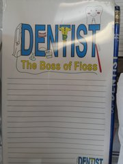 Dentist Notepad and Pencil Set