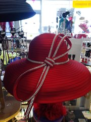 Lg Red Hat with Rhinestones #2829