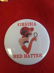 Virginia Red Hat Button #2802