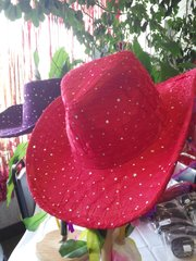 Red Sparkle Cowboy Hat #1852