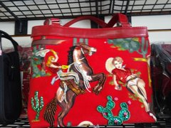 Red Embellished Western Purse #2751