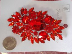 Red Brooch Pin #2899