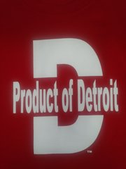 Red/White Product of Detroit Shirt #4016