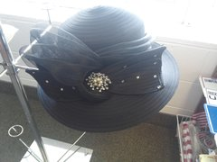 Blac Dress Hat #2961
