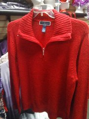 Red Sweater with Zip
