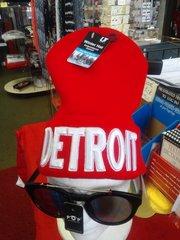 Red w White Detroit Knit Cap 5880