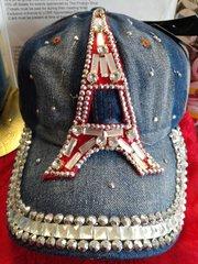 Eiffel Tower  Denim Cap #2882