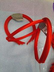 4 Pk Red Satin Headbands #7000