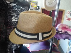 Beige with Black Fedora #3900