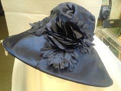 Navy Floral Hat #3601