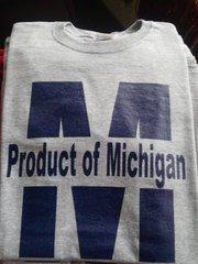 Gray Product of Michigan Sweatshirt #4008