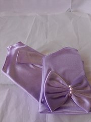 Lavender Fingrles Satin Gloves
