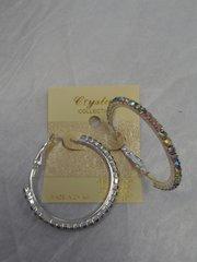 1.5 Amethist Hoop Earrings