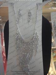 Rhinestone Necklace Set #2784