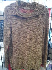Liz Claiborne Brown and Beige Sweater