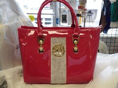 Hot Pink Patent Leather Purse#2810