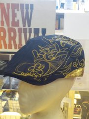 Navy and Gold Ivy Cap #2659