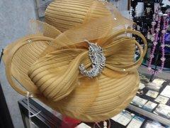 Mustard Dress Hat #3214