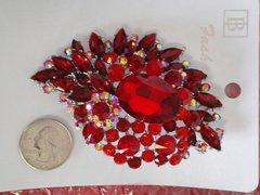 Red Brooch Pin #2907