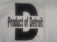 White/Black Product of Detroit 4015
