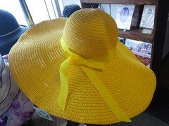 Yellow Wide Brim Hat #3067