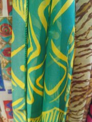 Green and Yellow Scarf 5847