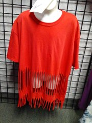 Red Fringe Tshirt #2694