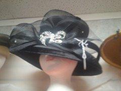 Black Dress Hat with Velvet #3215