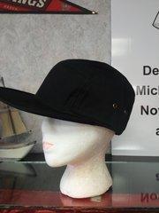 Black Cotton Cap with Wide Bib #3522